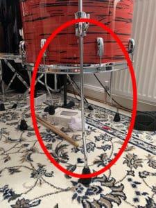 floor tom setup