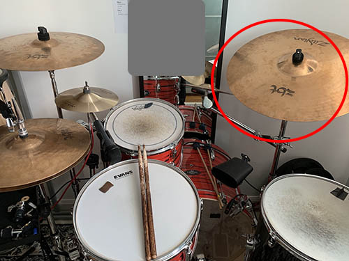 ride cymbal position